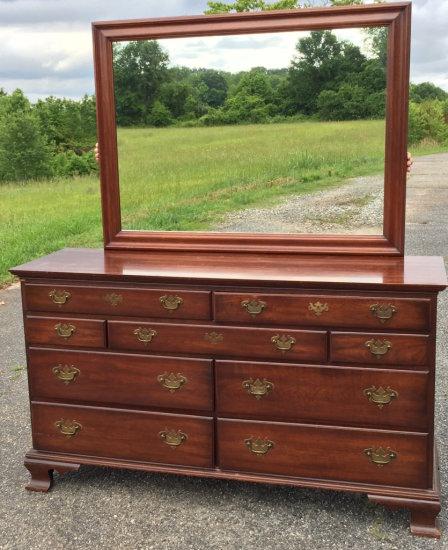 Cherry Pennsylvania House Dresser with Mirror