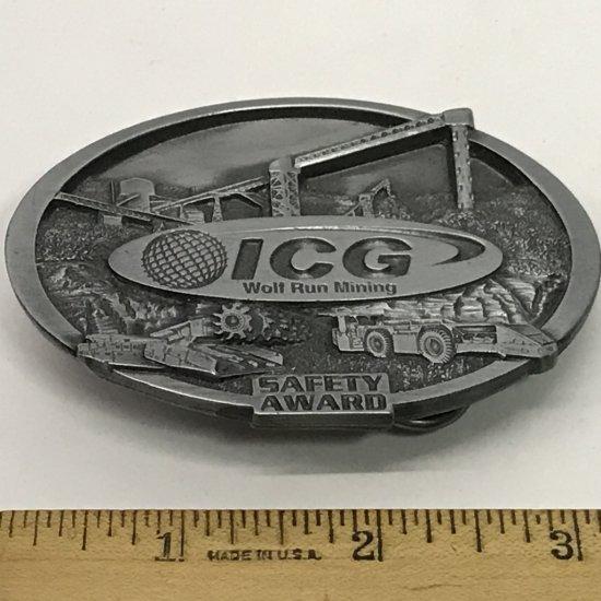 ICG Wolf Run Mining Safety Award Belt Buckle