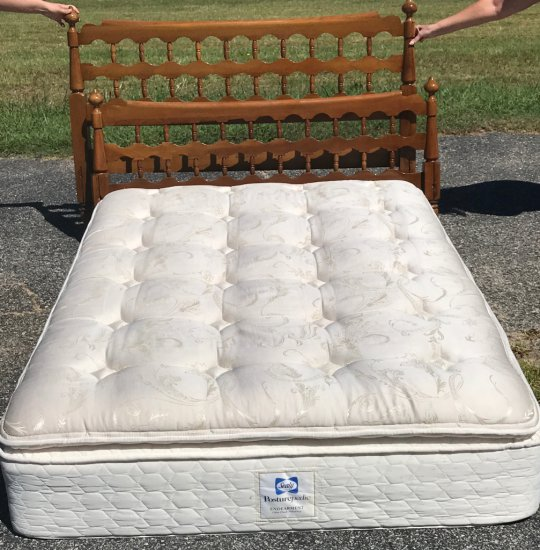 Vintage Burnished Cherry Full Size Headboard & Footboard
