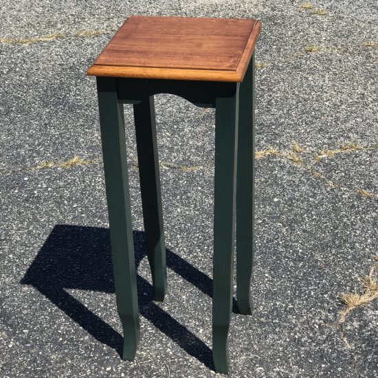 Tall Wooden Plant Stand with Hunter Green Legs