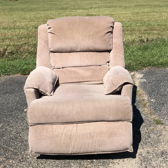 Beige Rocker Reclining Chair