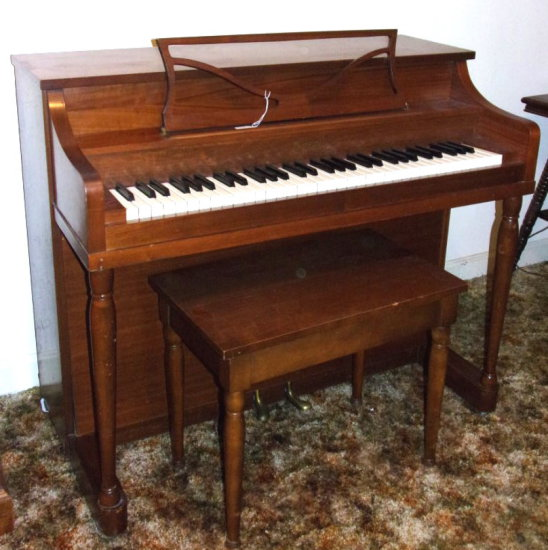 Melodie Grand Apt. Size Spinet Piano by AEOLIAN Corp. w/ Bench