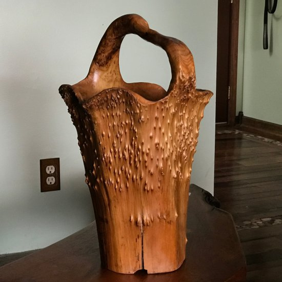 Awesome Unique Hand Carved Tree Trunk Basket