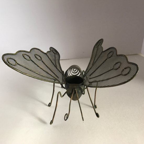 Metal Butterfly Candle Holder