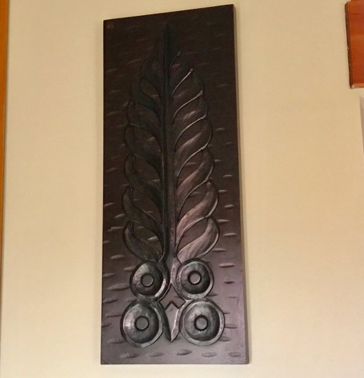 Large Carved Wood Wall Hanging