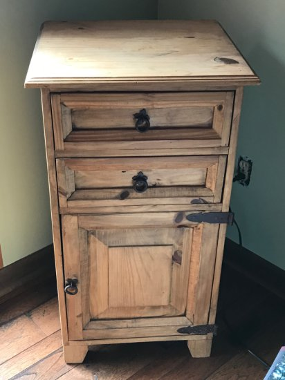 Wooden 2 Drawer Cabinet