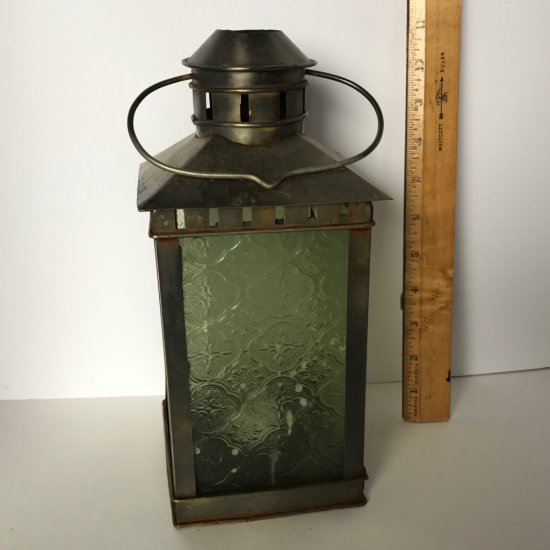 Decorative Metal & Glass Candle Lantern