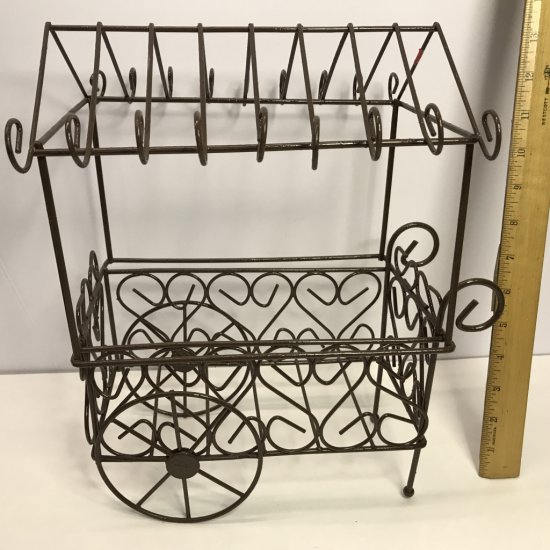 Brown Metal Display Cart