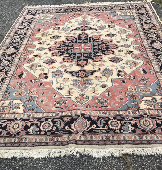 Large 10-1/2 ft x 7-3/4 ft Beautiful Oriental Style /room Size rug with Center Medallion