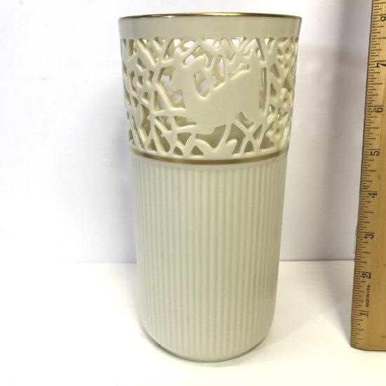Lenox China Glenwood Vase Hand Decorated with 24K Gold