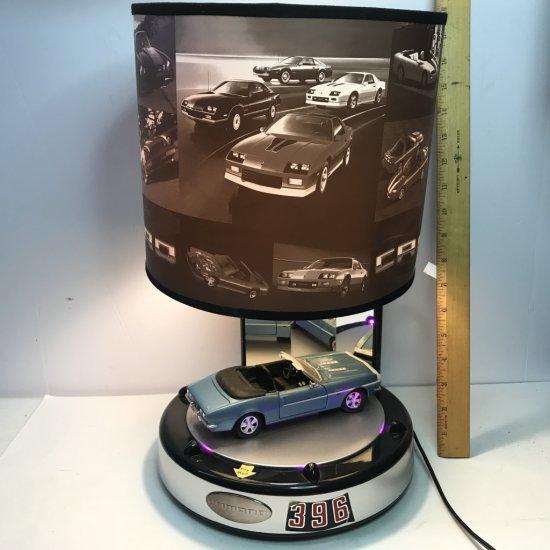 Camaro Lamp with Lights, Sounds & Spinning Car on Platform