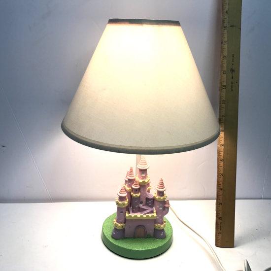 Pretty Pink Castle Lamp