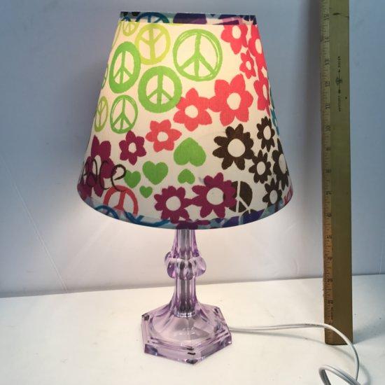 Purple Peace & Flower Lamp