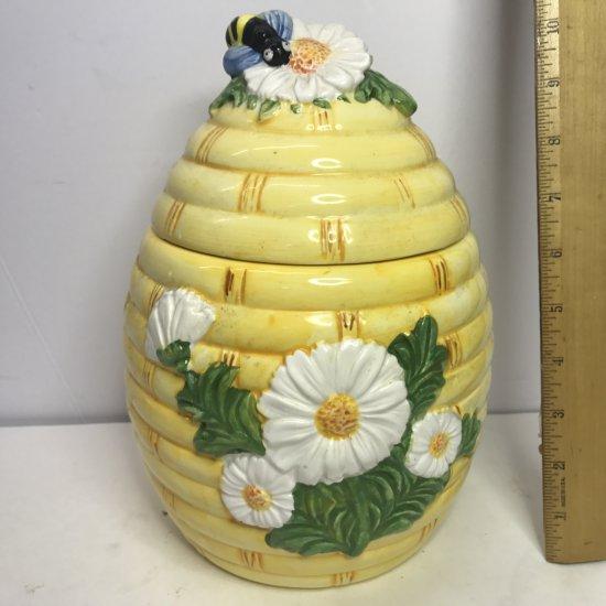 Ceramic Honey Bee Cookie Jar