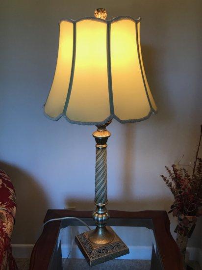 Vintage Turned Table Lamp