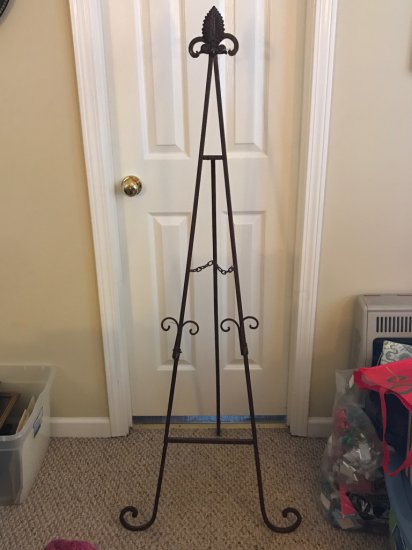 Tall Wrought Iron Easel/Stand