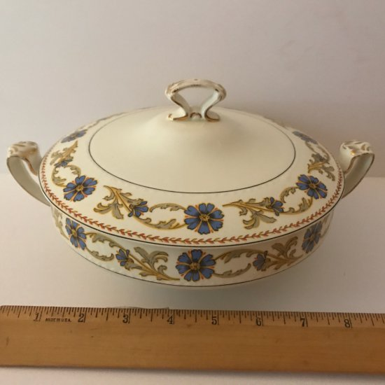 Vintage Alfred Meakin Double Handled Dish w/Lid - Made in England