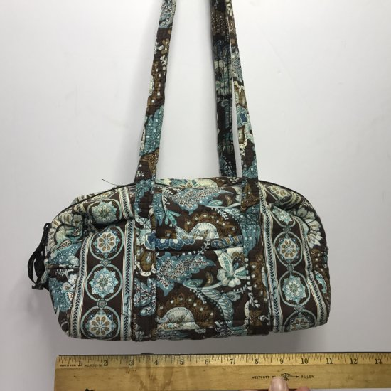 Vera Bradley Purse with Turquoise & Brown