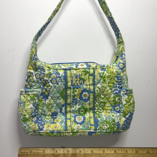 Pretty Vera Bradley Purse in Green, Blue & Yellow