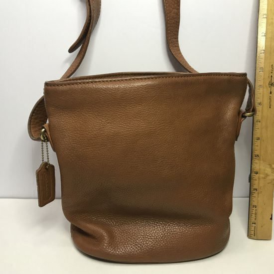"Leather Purse Signed ""Coach"""