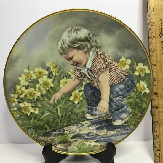 """Danbury Mint """"Journey of Dreams"""" by A.E. Ruffing """"Just Like Me"""" Collector's Plate"""