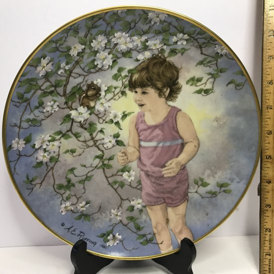 """Danbury Mint """"Journey of Dreams"""" by A.E. Ruffing """"Small Talk"""" Collector's Plate"""