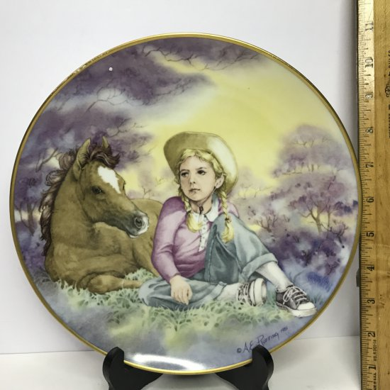 """Danbury Mint """"Journey of Dreams"""" by A.E. Ruffing """"The Foal"""" Collector's Plate"""
