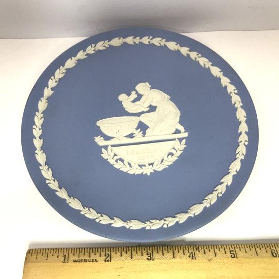 Blue Wedgwood Plate Signed on Back