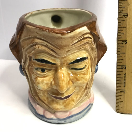 Vintage Hand Painted Wales China Jester Toby Mug Made in Japan