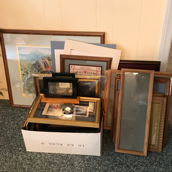 Large Lot of Pictures and Picture Frames
