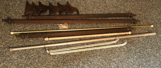 Lot of Curtain Rods