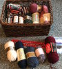 Lot of Misc Yarn in Basket