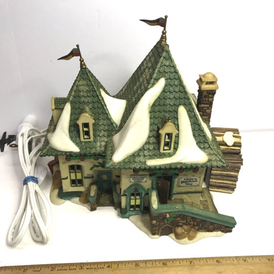 """Department 56 North Pole Series """"Elsie's Gingerbread"""" Lighted Village House"""