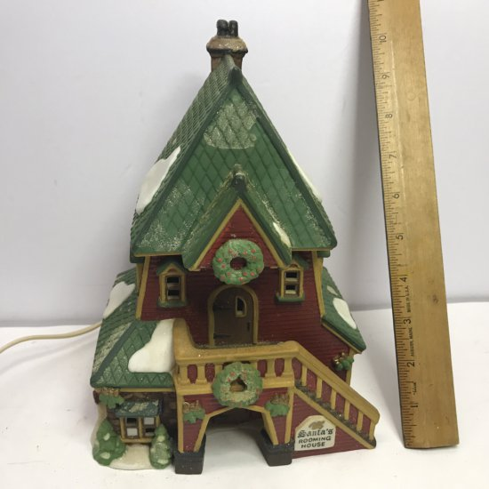 """Department 56 North Pole Series """"Santa's Rooming House"""" Lighted Village House"""
