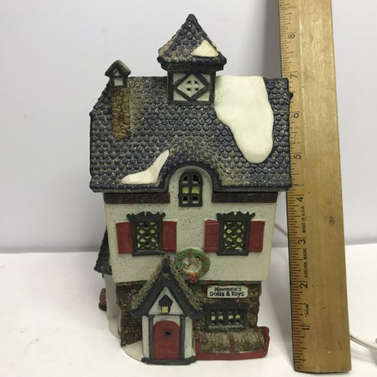 """Department 56 North Pole Series """"NeeNee's Dolls & Toys"""" Lighted Village House"""