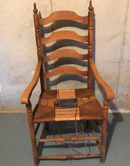 Vintage Ladder Back Captains Chair