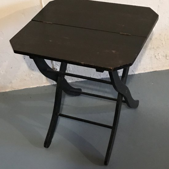 Antique Wooden Folding Side Table