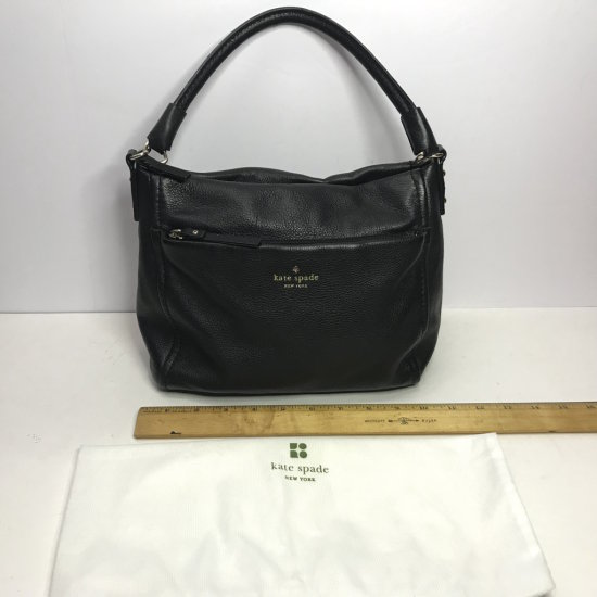 Kate Spade Black Leather Purse with Protective Bag