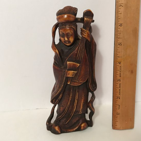 Vintage Carved Oriental Figurine Handcrafted in Italy