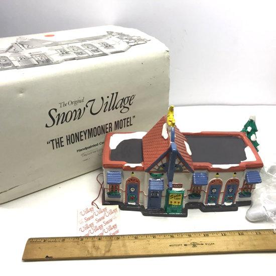 "Department 56 The Original Snow Village ""The Honeymooner Motel"" in Box"