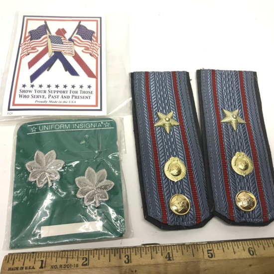 Lot of Uniform Pins & Rankings