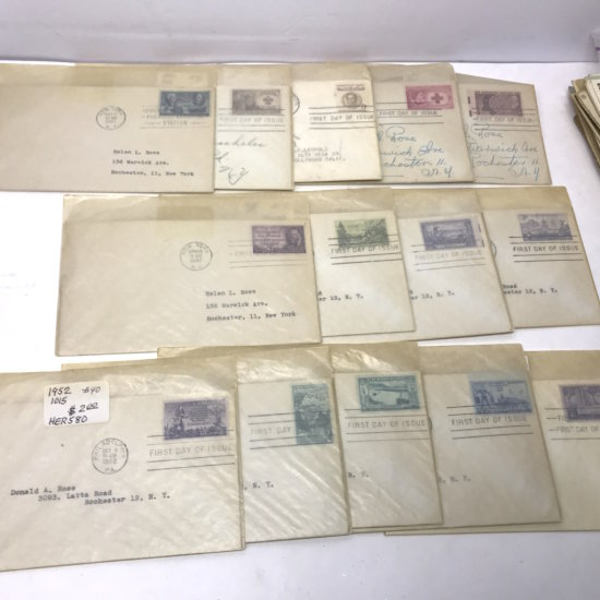 Lot of Collectible First Day Issue Stamps from 1940's - 1950's