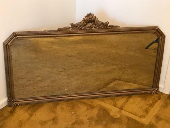 Large Antique Mirror w/Wooden Gilt Frame