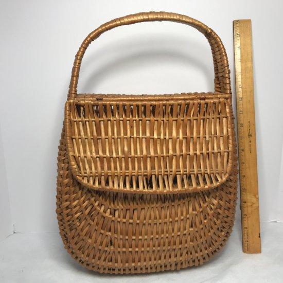Vintage Basket w/Hinged Lid