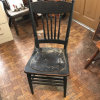 Antique Wooden Pressed Back Side Chair