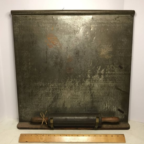 Antique Metal Rolling Pin with Magnetic Board