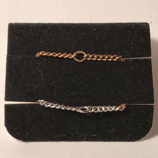 Pair of Vintage Sarah Coventry Gold Tone & Silver Tone Necklace Extenders