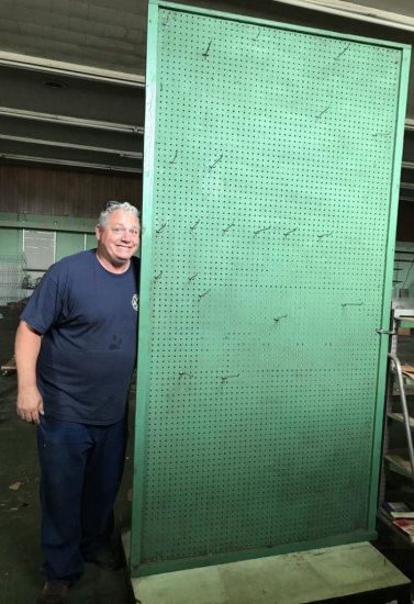 Tall Vintage Double Sided Peg Display Board