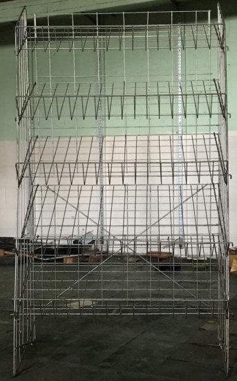 5 Tier Metal Wire Display Rack