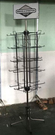 Vintage Briggs & Stratton Spinning Display Rack